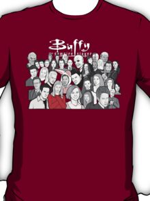 buffy the vampire slayer character collage T-Shirt