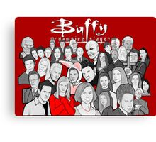 buffy the vampire slayer character collage Canvas Print