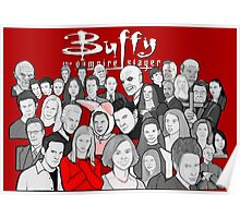 buffy the vampire slayer character collage Poster