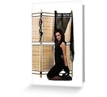 Folding screen Greeting Card
