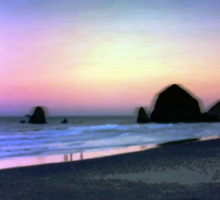 Cannon Beach At Sunrise Sticker