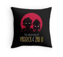 The Adventures of Varrick & Zhu Li Throw Pillow