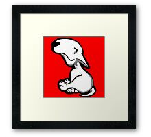 English Bull Terrier All Innocent  Framed Print