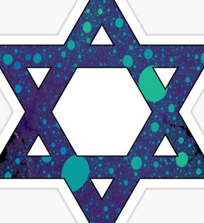 Jewish Star of David Trippy Sticker