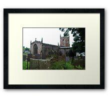 St Giles Hartington. Framed Print