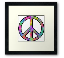 Peace Sign Trippy Framed Print
