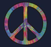 Peace Sign Trippy Kids Tee