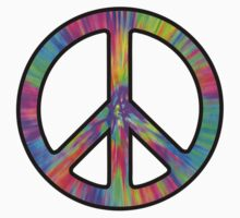 Peace Sign Trippy Baby Tee