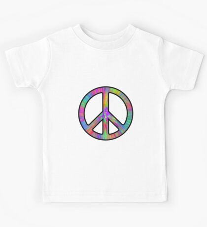 Peace Sign Trippy Kids Tee