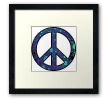Peace Sign Trippy Framed Print