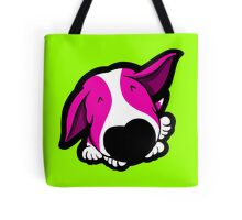 Big Nose Bull Terrier Shocking Pink Tote Bag
