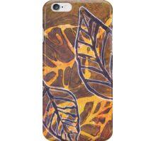 Leaves 03 Mixed Media - Ink on Acrylic Monoprint iPhone Case/Skin