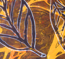 Autumn Leaf Mixed Media Series 3 by Heather Holland Sticker
