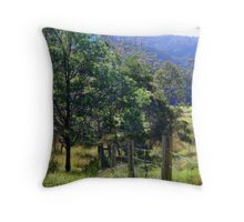 up the valley Throw Pillow