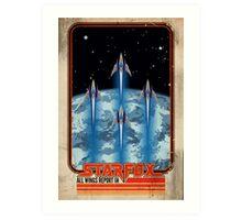 Retro Star Fox Poster Art Print