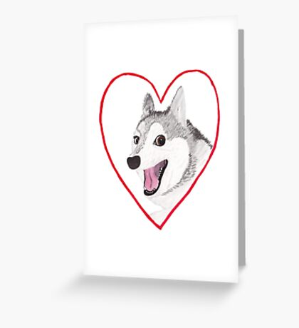 Love Dog Greeting Card