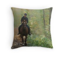Riding out of the light Throw Pillow