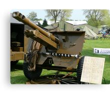 25 PDR Howitzer (photo) Canvas Print