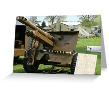 25 PDR Howitzer (photo) Greeting Card