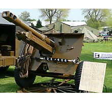 25 PDR Howitzer (photo) Photographic Print