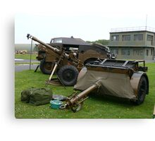 25PDR tractor and trailer (photo) Canvas Print