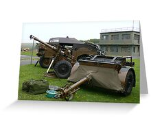 25PDR tractor and trailer (photo) Greeting Card