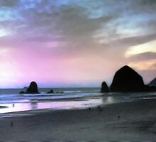 Cannon Beach At Sunset by svetlananilova