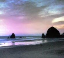 Cannon Beach At Sunset Sticker