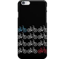 Red, white and blue bicycle print iPhone Case/Skin