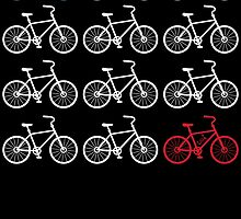 Red, white and blue bicycle print by huliodoyle