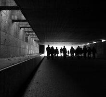 tunnel silhouettes by Florian Verhein
