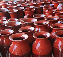 Red Pots by Victoria Kidgell