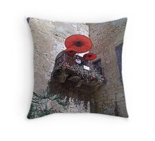 Balcony with a difference Throw Pillow