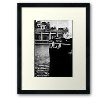 Docklands Barge Framed Print