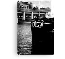 Docklands Barge Canvas Print