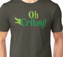 Oh CRIKEY! Australian slang with a crocodile alligator Unisex T-Shirt