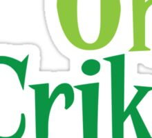 Oh CRIKEY! Australian slang with a crocodile alligator Sticker