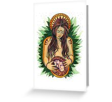 Mother Goddess Greeting Card