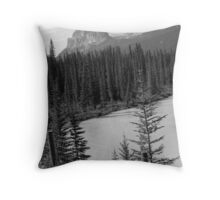 Castle Mountain Different Perspective Throw Pillow