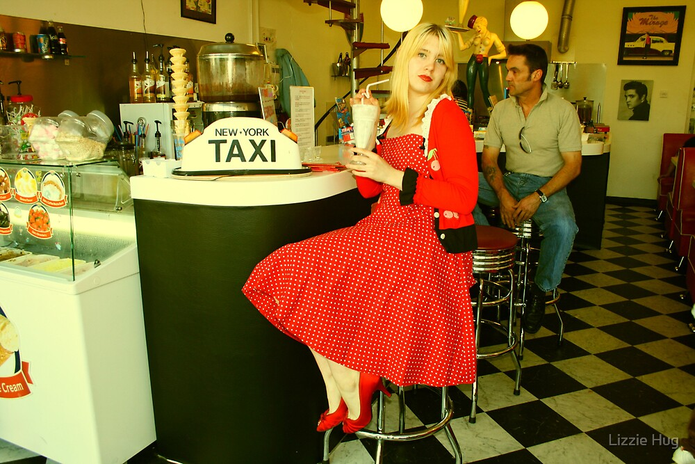 Amy at the Diner by Lizzie Hug