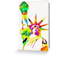 Statue Of Liberty Colorful Abstract Greeting Card