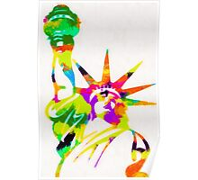 Statue Of Liberty Colorful Abstract Poster