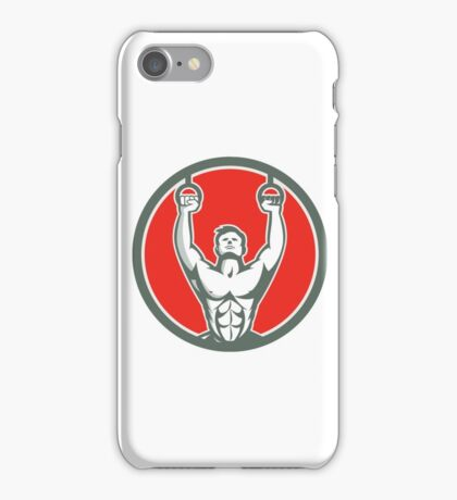 Kipping Muscle Up Cross-fit Circle Retro iPhone Case/Skin