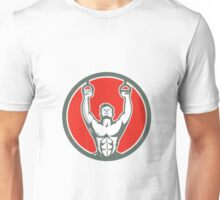 Kipping Muscle Up Cross-fit Circle Retro Unisex T-Shirt