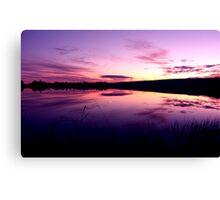 Sundown on the lake ... Canvas Print