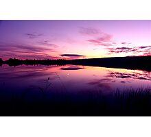 Sundown on the lake ... Photographic Print