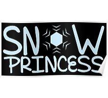 Snow Princess with a snowflake Poster