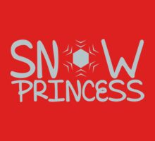 Snow Princess with a snowflake One Piece - Short Sleeve