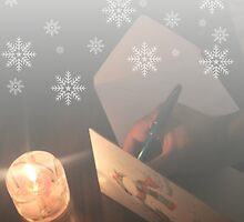 With every Christmas card I write. by Stephen Thomas
