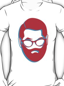 3D BEARD with glasses T-Shirt